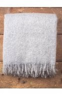 Foxford Grey & White Mohair Throw