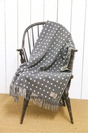 Grey & White Spot Throw