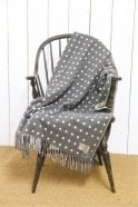 Foxford Grey & White Spot Throw