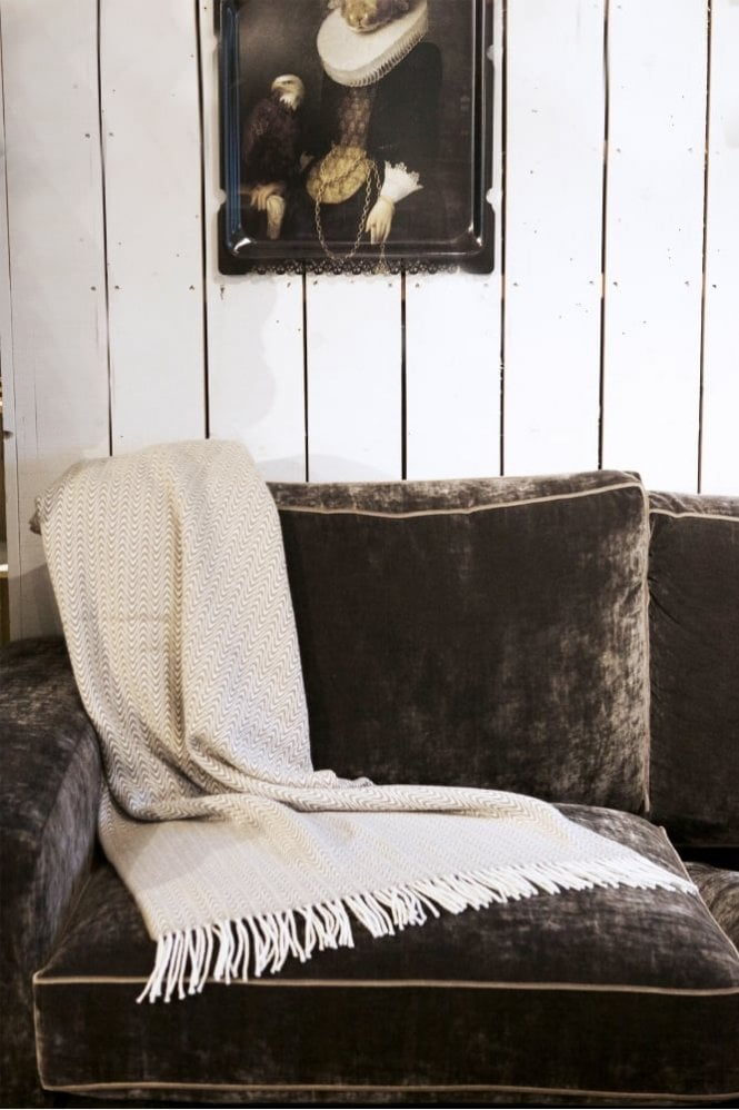 Foxford Mink Animal Print Throw