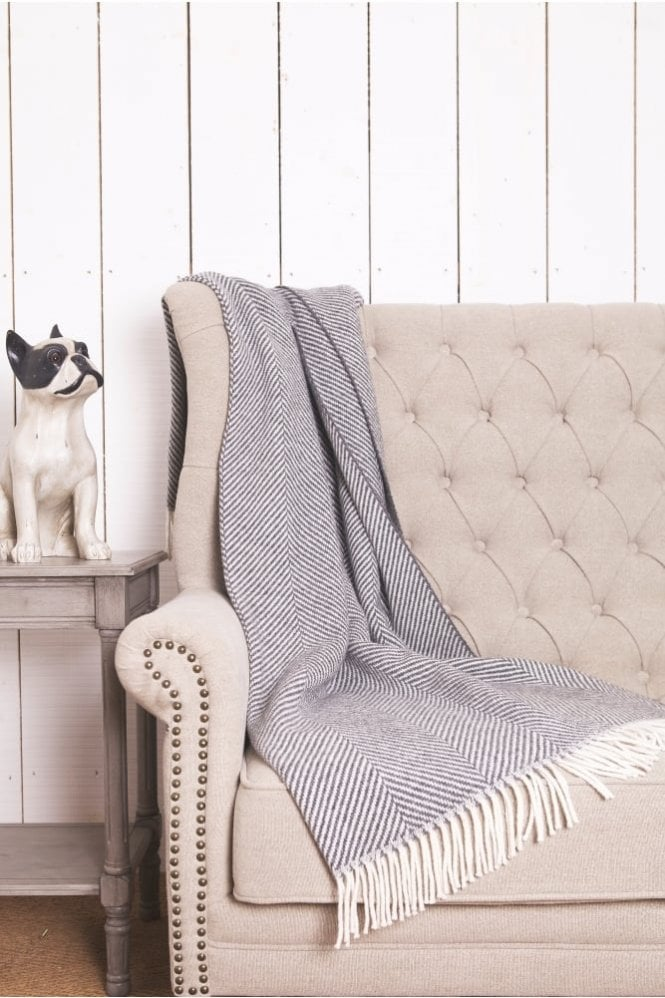 Foxford Oxford Giant Herringbone Throw