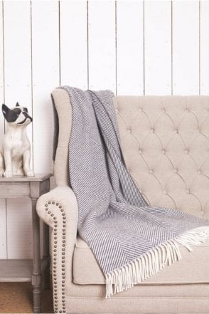 Oxford Giant Herringbone Throw