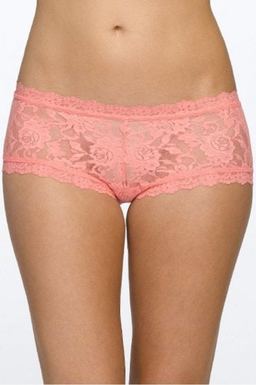 Signature Lace Boy Short in Duchess Coral