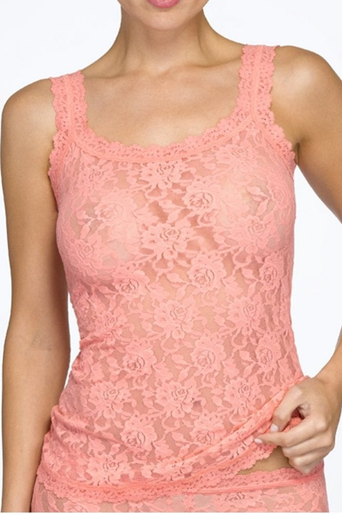 Hanky Panky Signature Lace Classic Camisole in Duchess Coral