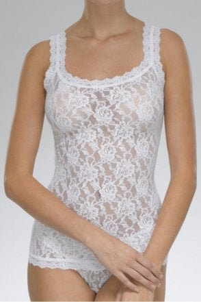 Signature Lace Classic Camisole in White