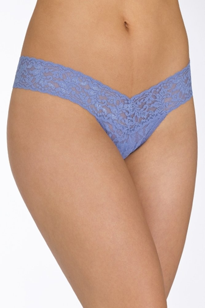 15451a5ce Hanky Panky Signature Lace Low Rise Thong in Chambray at Sue Parkinson
