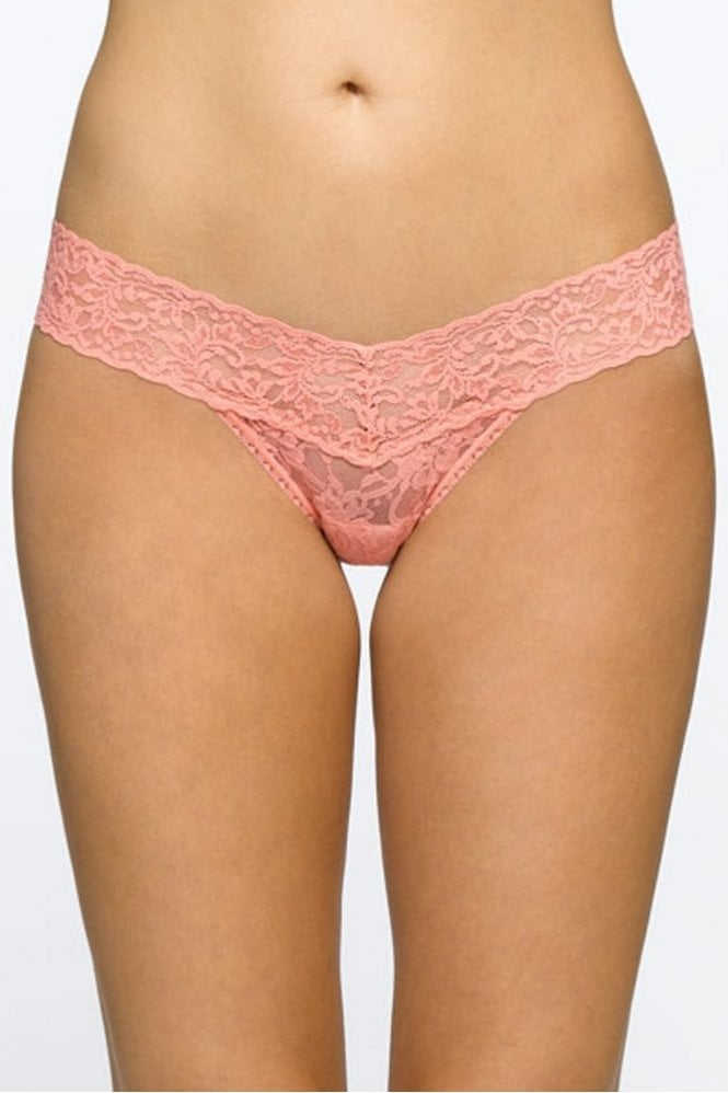 Hanky Panky Signature Lace Low Rise Thong in Duchess Coral