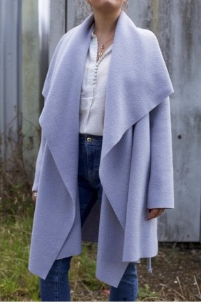 Blanket Coat in Ice Grey