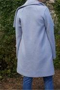 Harris Wharf London Blanket Coat in Ice Grey