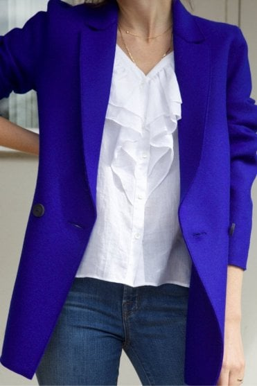 Blazer in Bright Blue