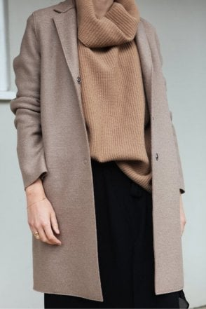 Cocoon Coat in Camel
