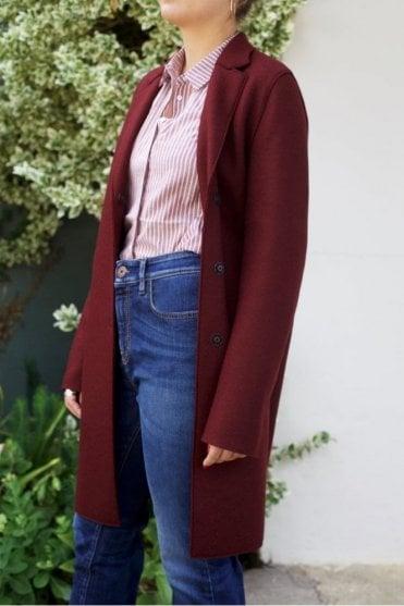 Cocoon Coat in Cinabre