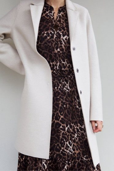 Cocoon Coat in Cream