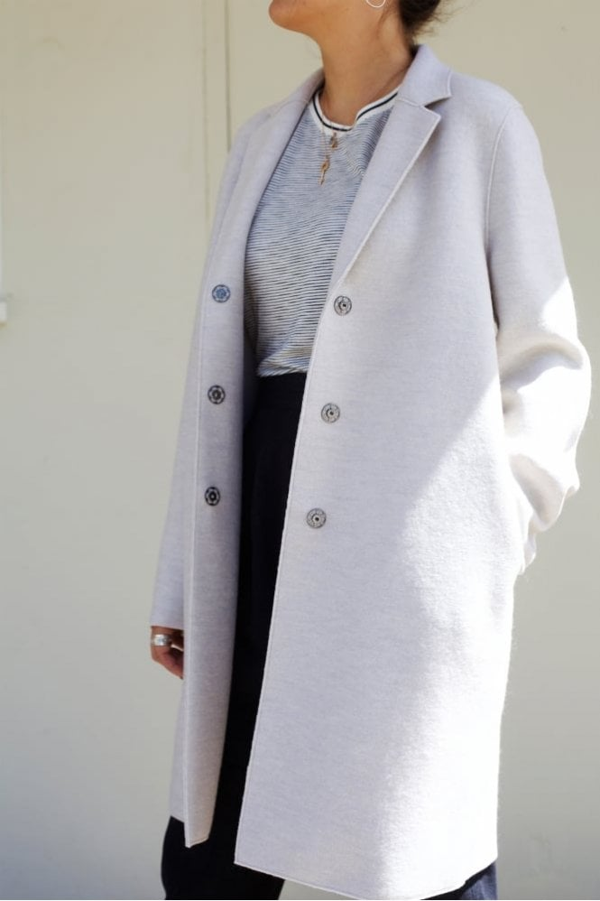 Harris Wharf London Cocoon Coat in Ecru