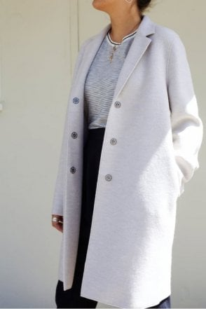 Cocoon Coat in Ecru