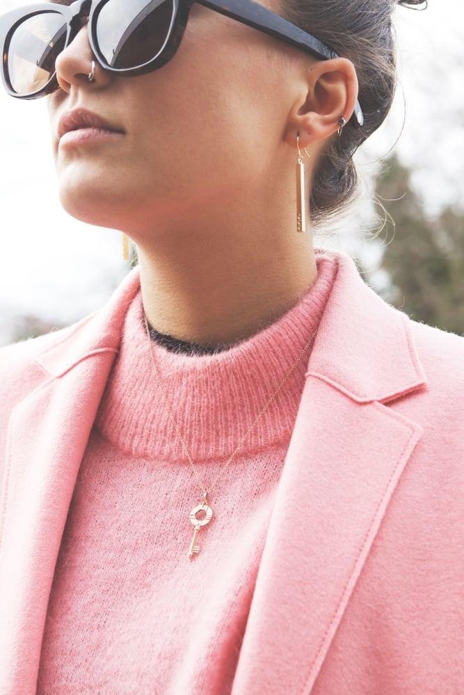 harris wharf london cocoon single breasted wool coat in pink flamingo. Black Bedroom Furniture Sets. Home Design Ideas