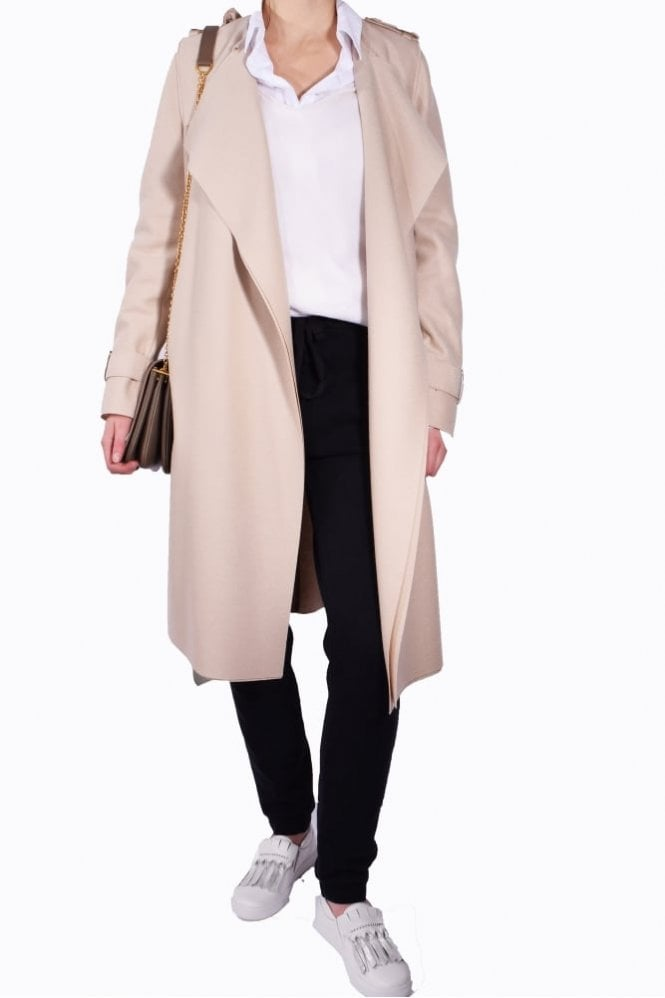 Harris Wharf London Trench Coat in Light Cream