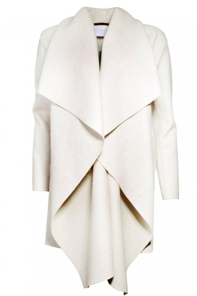 Harris Wharf London Wool Blanket Coat in Ecru