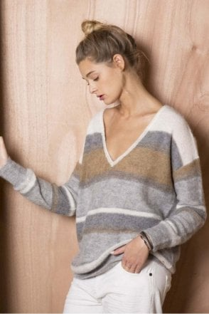 Adana Sweater in Grey China