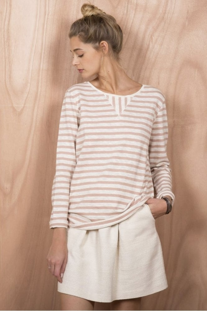 Harris Wilson Capitole T-Shirt in Ecru and Peony
