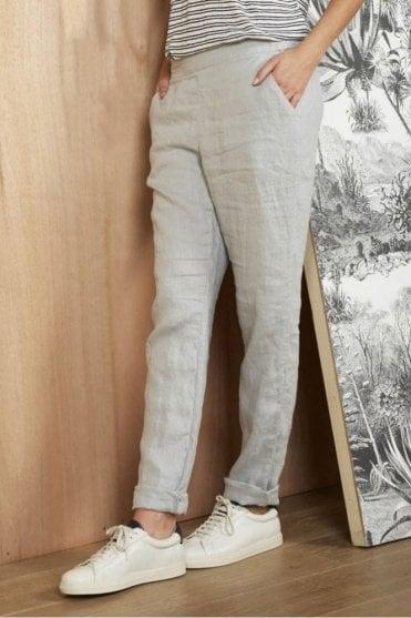 Escale Linen Trouser in Grey