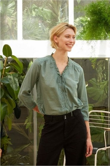 Leandro Blouse in Jade