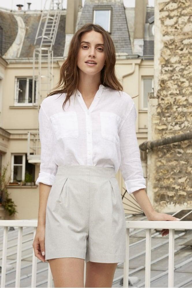 Harris Wilson Linea Linen Blouse in White