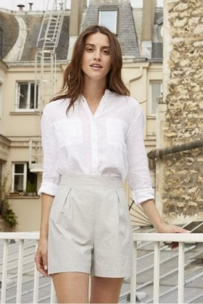 Linea Linen Blouse in White