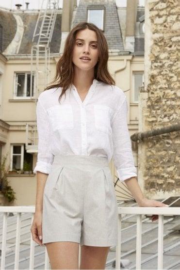Linea Linen Blouse in White