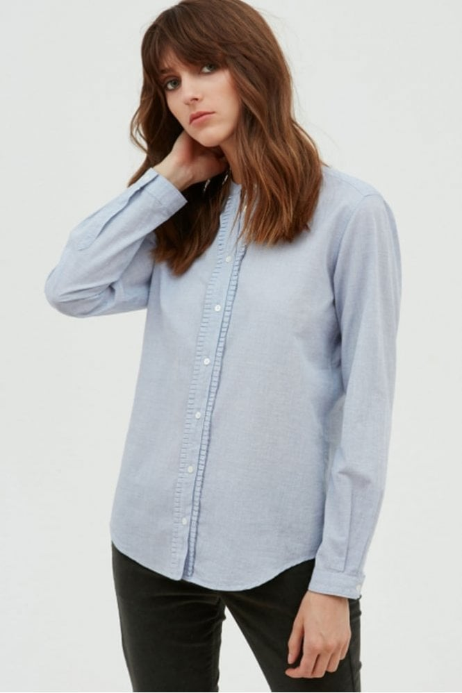 Hartford Blue End on End Casanova Shirt