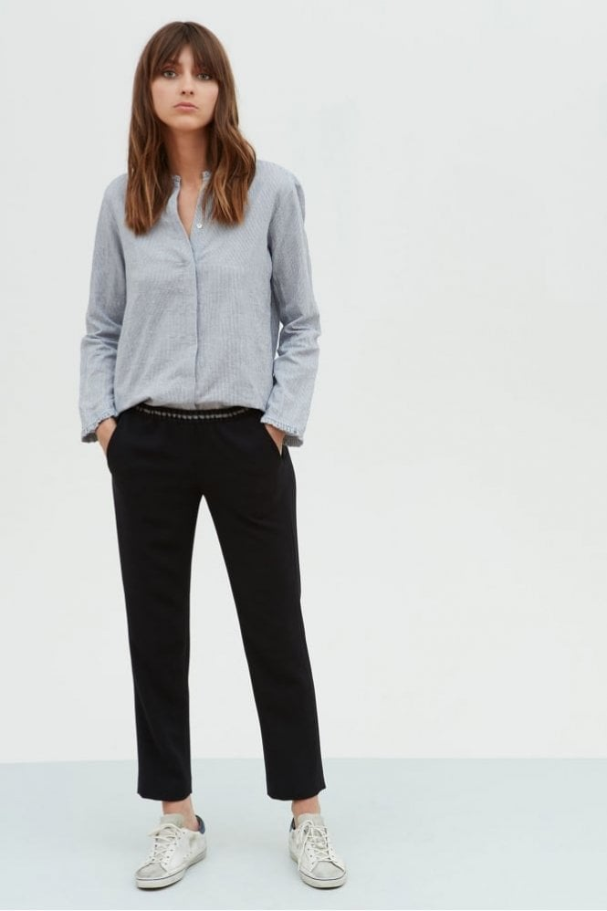 Hartford Dark Navy Crepe Pirouette Pants