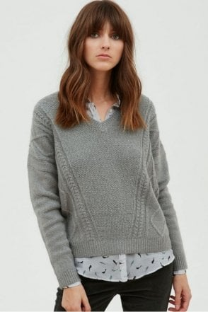 Grey Wool & Mohair Jumper