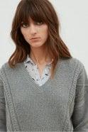 Hartford Grey Wool & Mohair Jumper