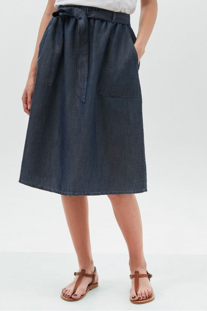 Hartford Indigo Jemina Skirt