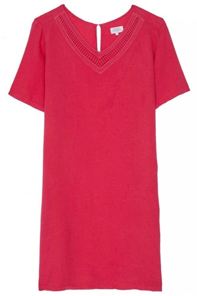 Hartford Magenta Linen Raphia Dress
