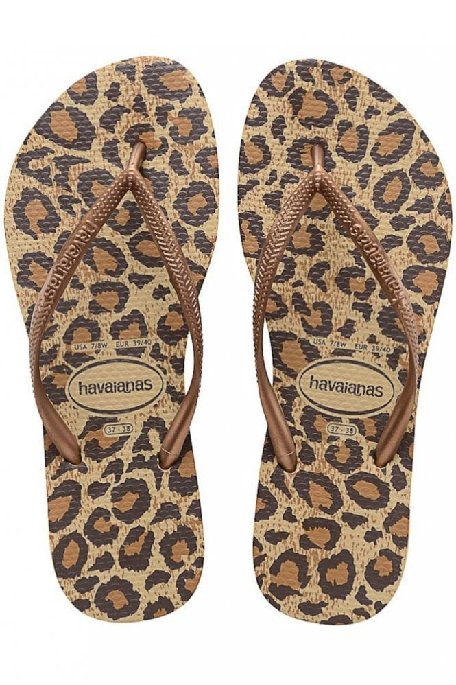 Havaianas Slim Animals in Beige
