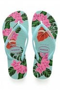 Havaianas Slim Floral in Ice Blue