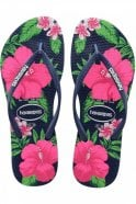 Havaianas Slim Floral in Navy Blue