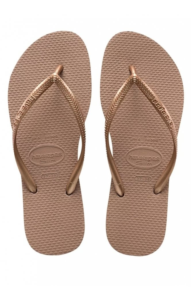 Havaianas Slim in Rose Gold
