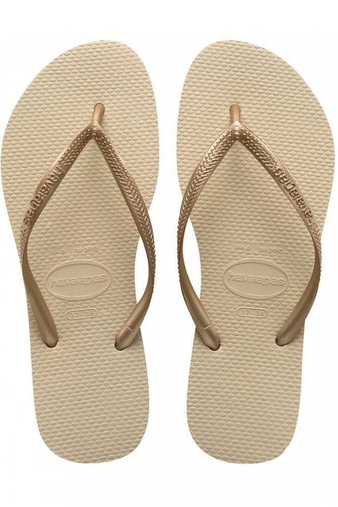 Havaianas Slim in Sand Grey / Light Golden