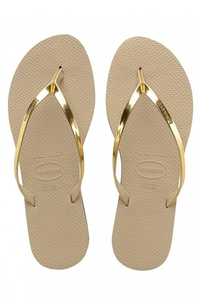 Havaianas You Metallic – Sand grey/Light gold