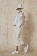 HIGH Bellboy Cream Cropped Wide Flares