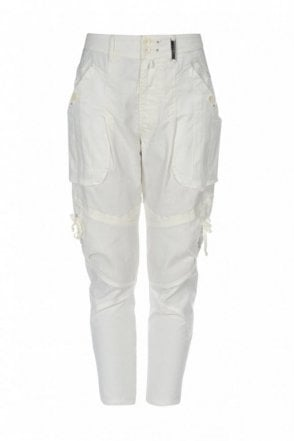 Caper Bellows Pockets Tapered Pants