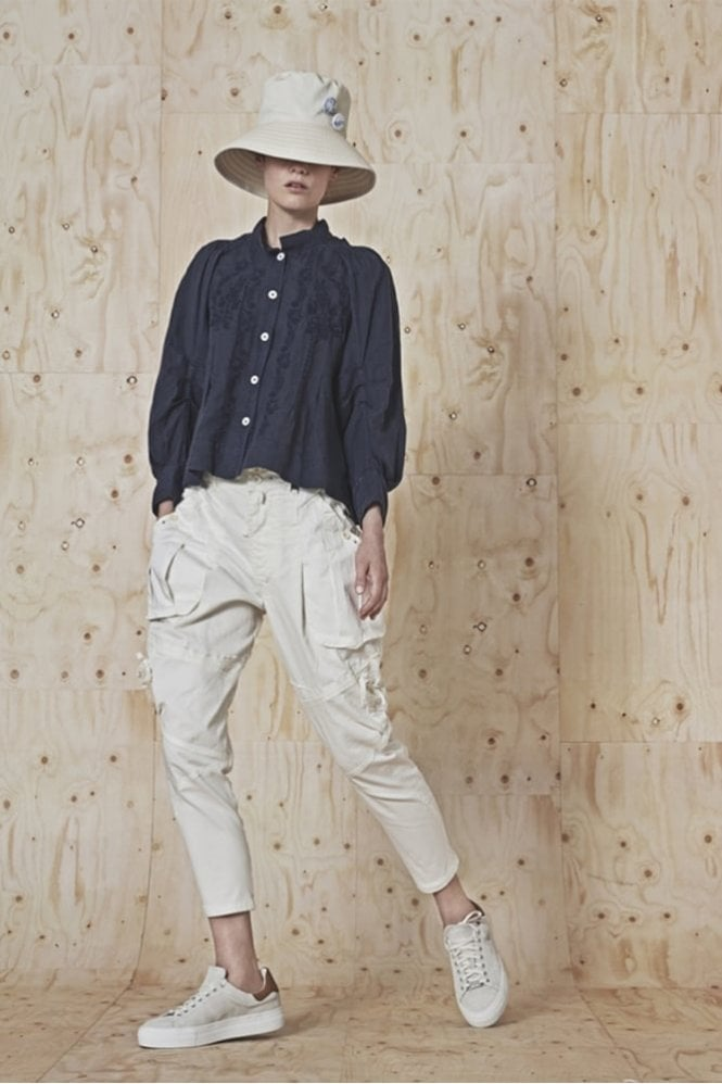 HIGH Caper Bellows Pockets Tapered Pants