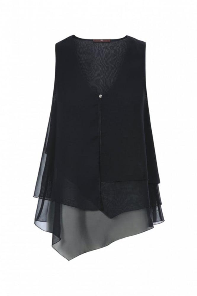 HIGH Filo Midnight Blue Multi-Layer Vest Top