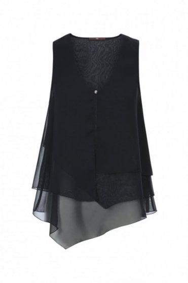 Filo Midnight Blue Multi-Layer Vest Top