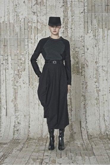 Fulcrum Black and Grey Pinstripe and Fleece Sweatshirt