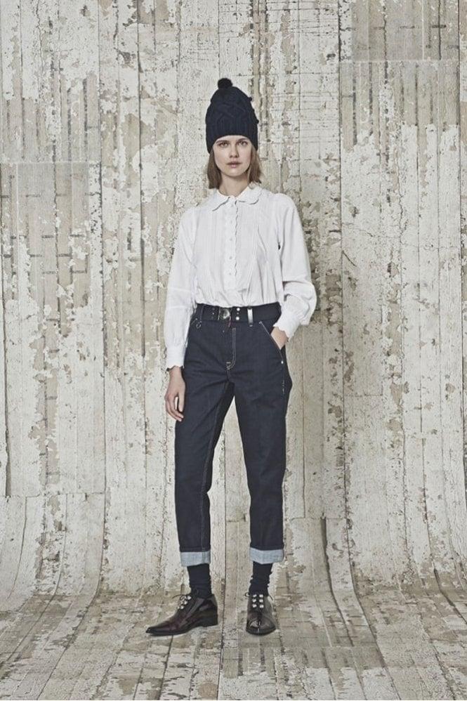 HIGH Marylin Dark Clean Rinse Slim Cropped Jeans