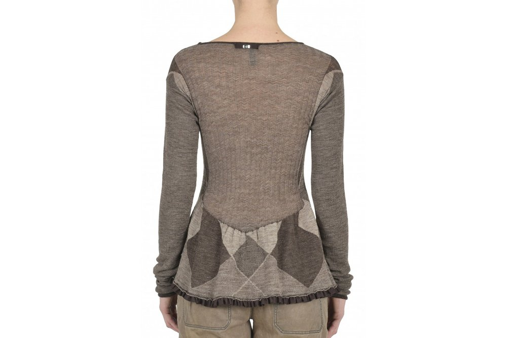 Peplum Knitting Patterns : HIGH Reaction Knit with Pattern Peplum available at Sue ...