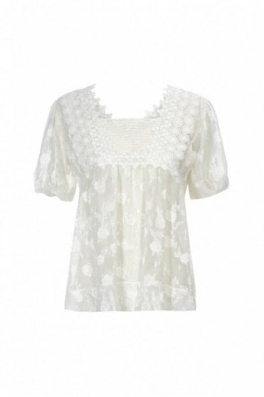 Recite Fill Coupe and Ribbon Lace Top